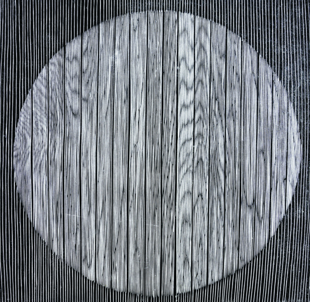 "Zhang Ying - Do You Think This Is Really Zen, Woodblock Print, 23.6"" x 23.6"", 2012"